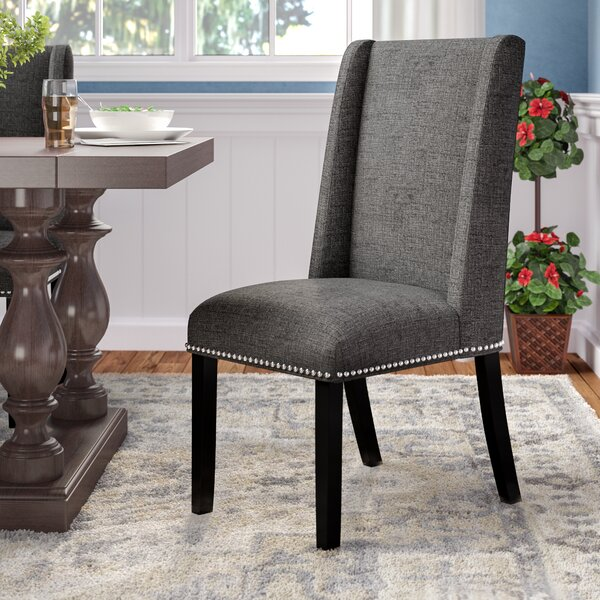 Florinda Wood Leg Upholstered Dining Chair by Darby Home Co