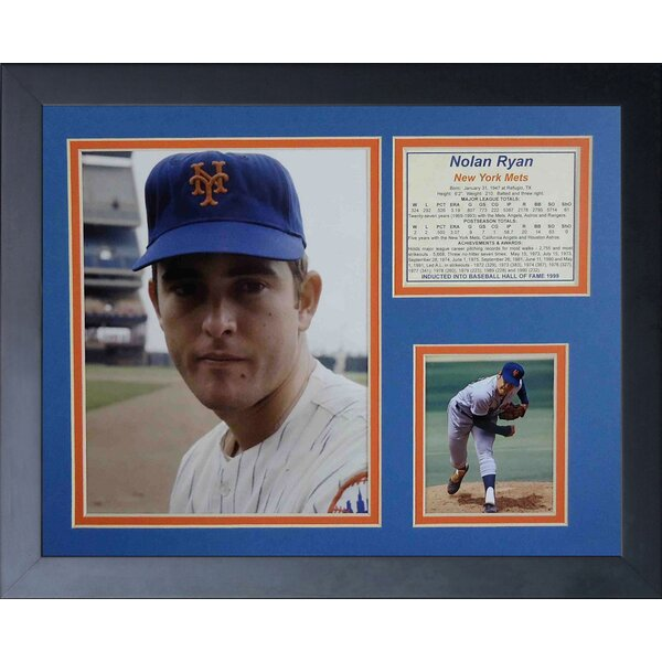 Nolan Ryan - Mets Framed Memorabilia by Legends Never Die