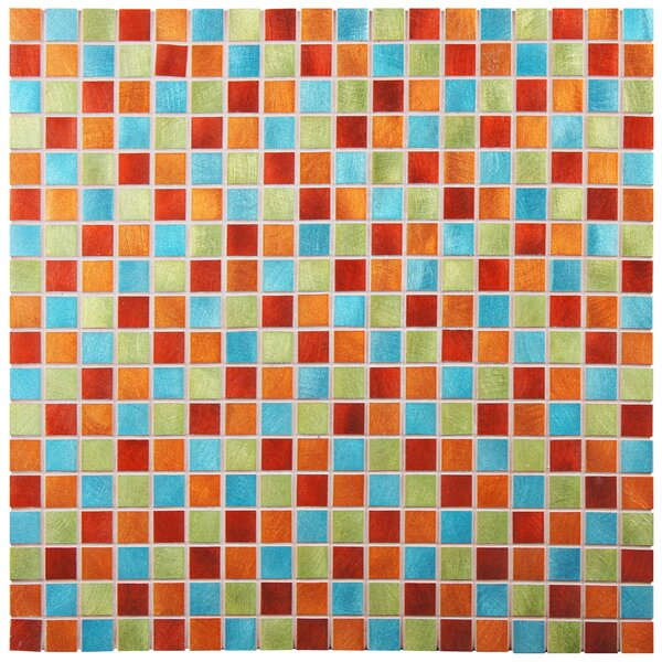 Alundum Mini 0.56 x 0.56 Aluminum Mosaic Wall Tile in Red/Orange by EliteTile
