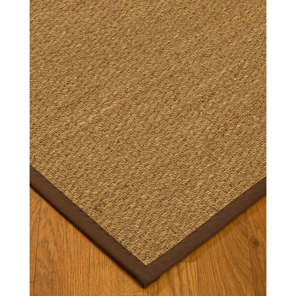 Anya Border Hand-Woven Beige/Brown Area Rug by Longshore Tides