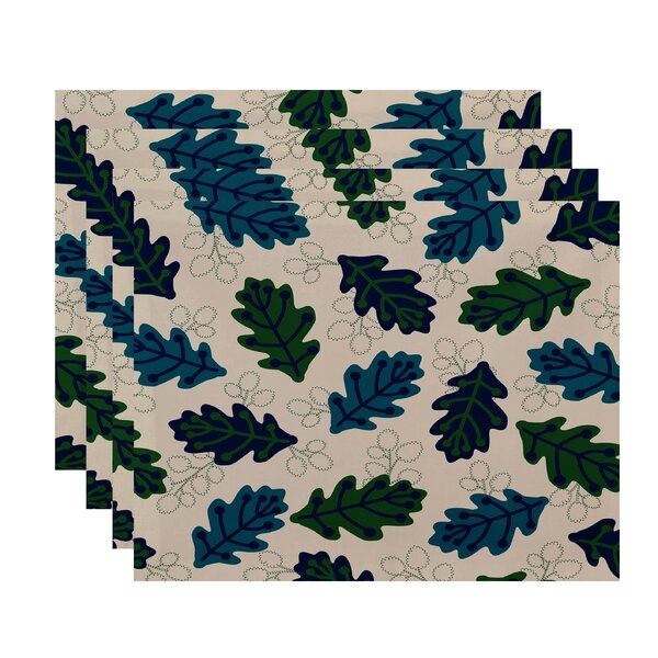 Ketter Retro Leaves Floral Print Placemat (Set of 4) by Brayden Studio