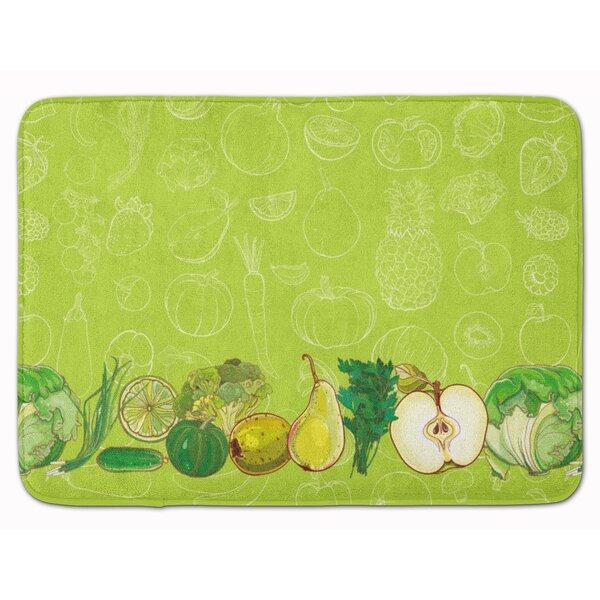 Fruits and Vegetables Rectangle Microfiber Non-Slip Bath Rug