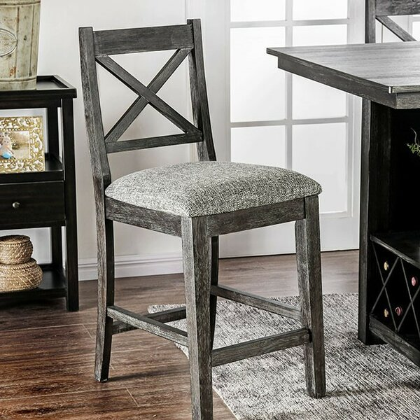 Rich Counter Height Upholstered Dining Chair (Set of 2) by Gracie Oaks