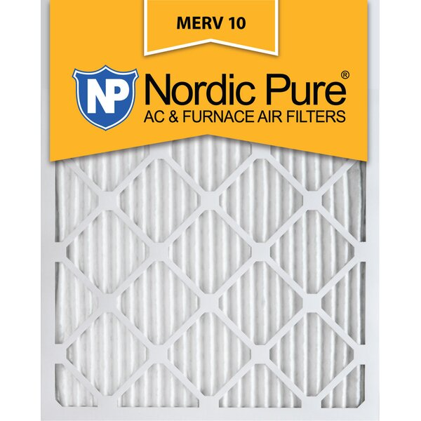 Merv 10 Pleated Air Conditioner/Furnace Filter (Set of 6) by Nordic Pure