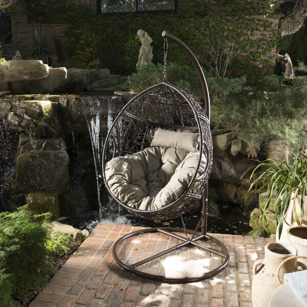 Dawson Outdoor Basket Swing Chair with Stand by Trent Austin Design