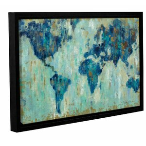 'Map of the World' Framed Painting Print by Brayden Studio