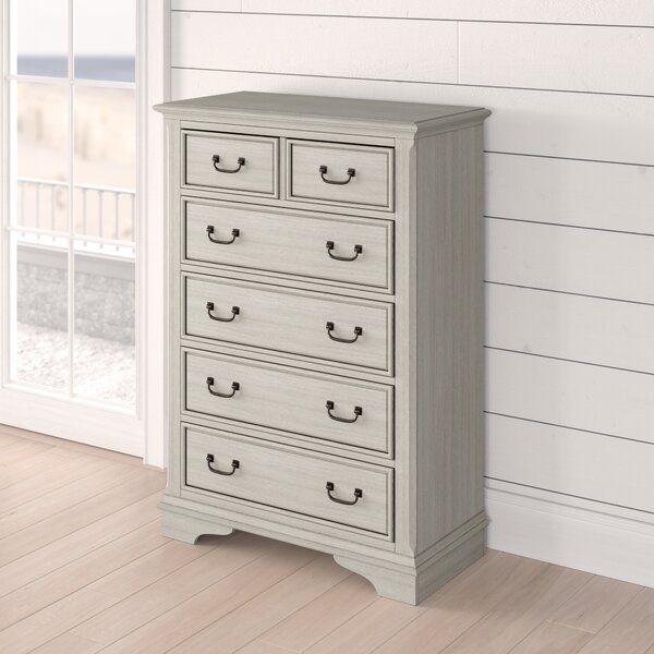 Trenton 5 Drawer Wood Chest by Rosecliff Heights
