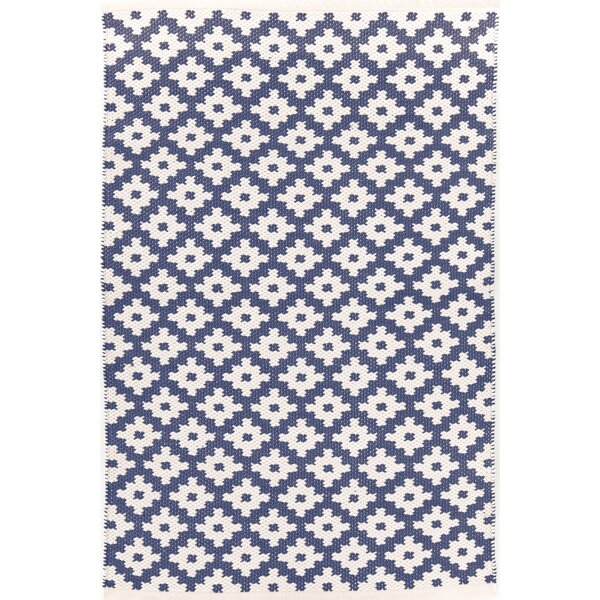 Samode Hand-Woven Blue/White Indoor/Outdoor Area Rug by Dash and Albert Rugs