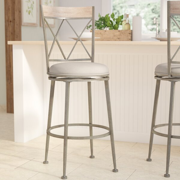 Allain 30 Swivel Indoor/Outdoor Patio Bar Stool by August Grove