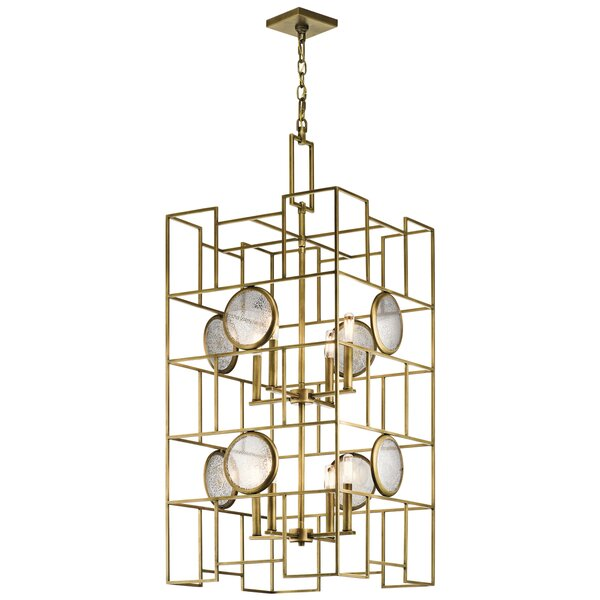 Colindale 8-Light Unique / Statement Rectangle / Square Chandelier by Mercer41 Mercer41