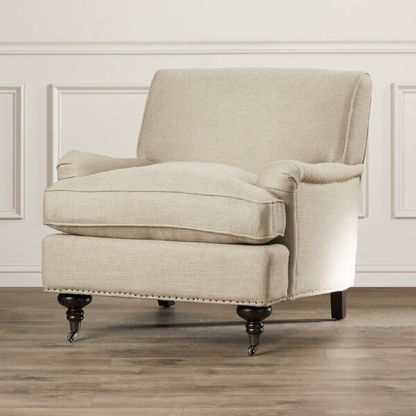 Linen Armchair By Charlton Home.