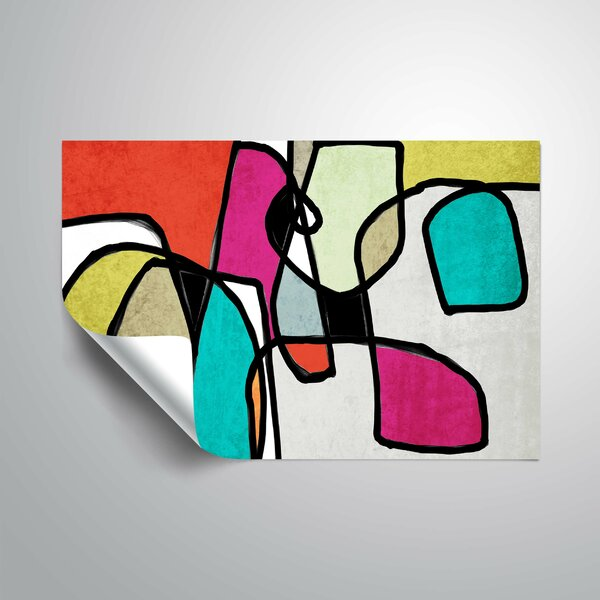 Kuzay Vibrant Colorful Abstract IV Wall Mural by Latitude Run