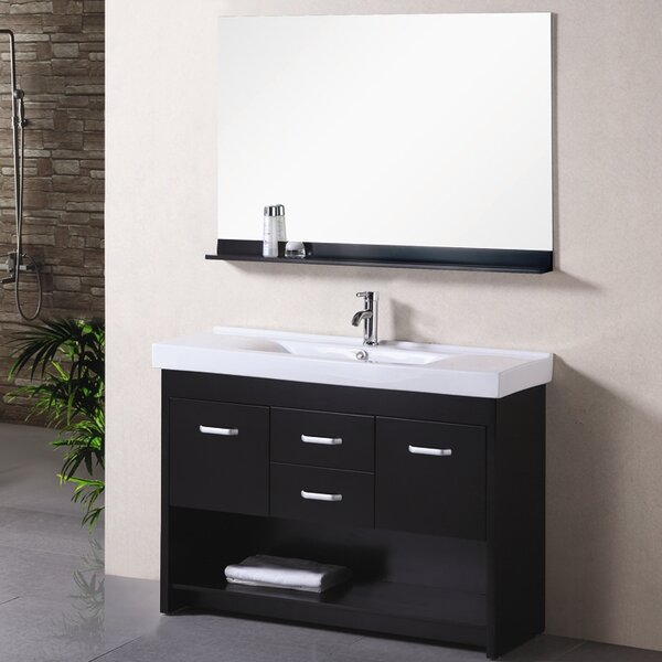 Braxton 48 Single Bathroom Vanity Set with Mirror by Home Loft Concepts