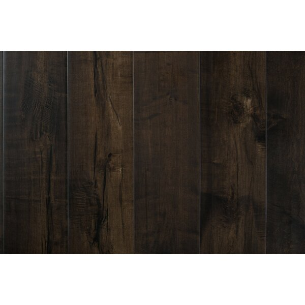 Carbon 7-1/2 Engineered Maple Hardwood Flooring in Dark Brown by GoHaus