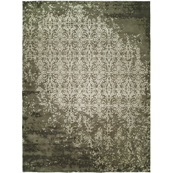 Dhuri Hand-Tufted Shadow Ivory Area Rug by Meridian Rugmakers