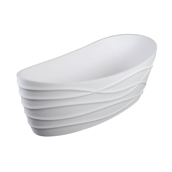 Dune II 68 x 34 Freestanding Soaking Bathtub by Clarke Products