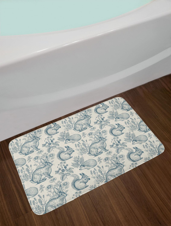 Door Mat Bathroom Rug Bedtoom Carpet Bath Mats Rug Hedgehog and marshmallows