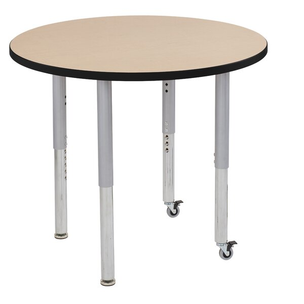 Maple Top Thermo-Fused Adjustable 36 Circular Activity Table by ECR4kids