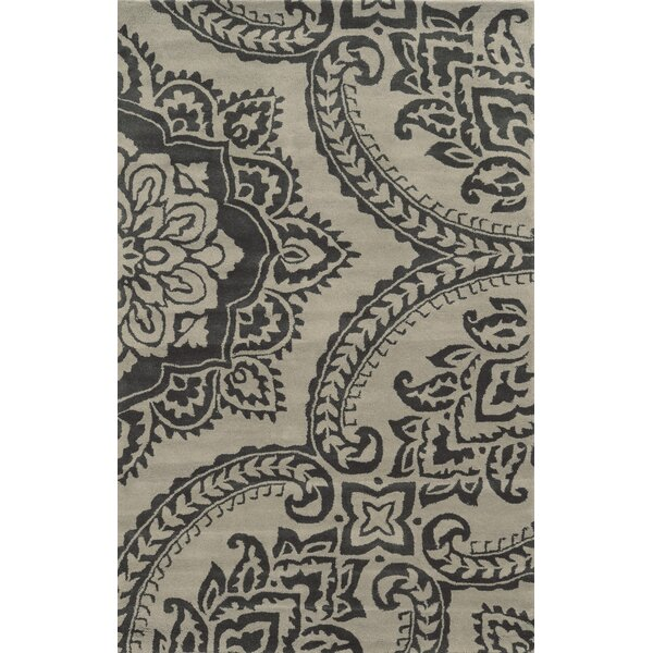 Crete Hand-Tufted Gray/Beige Area Rug by Meridian Rugmakers