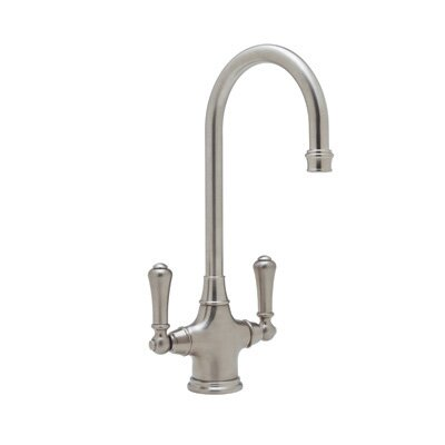 Perrin And Rowe Single Hole Bar Faucet with Double Lever Handles by Rohl