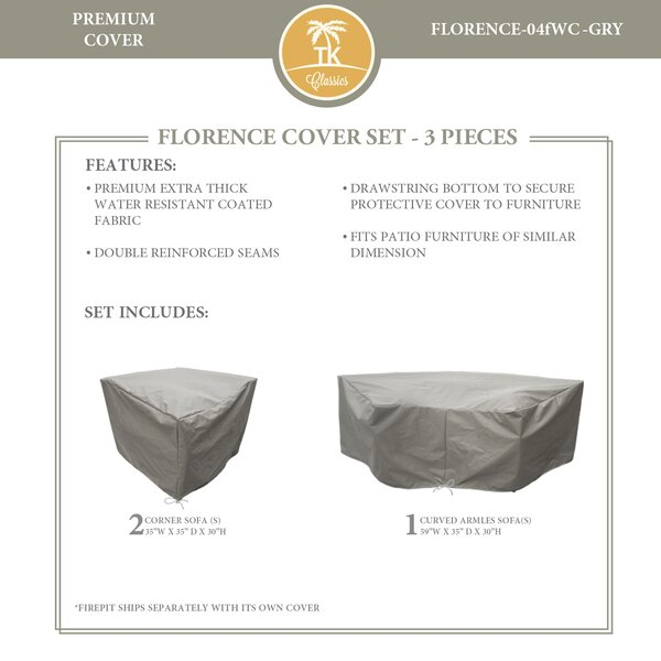 Forence 3 Piece Water Resistant Patio Furniture Cover Set by TK Classics