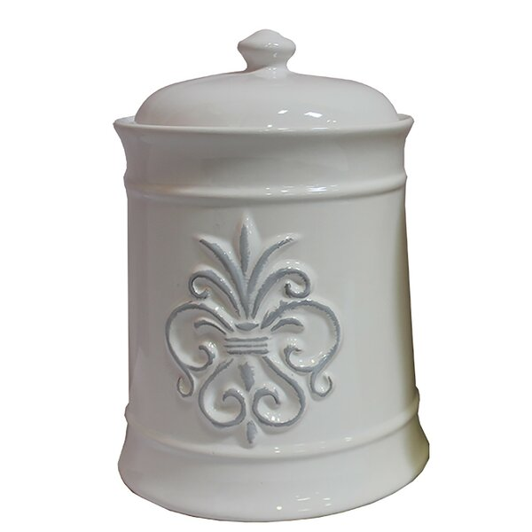 Ceramic Kitchen Canister With Lid By Bay Isle Home Best Design