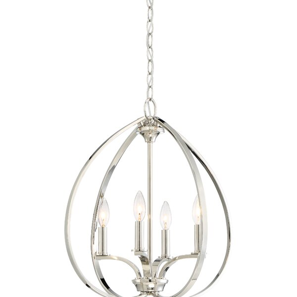 Edgebrooke 4 - Light Unique / Statement Globe Chandelier by Latitude Run Latitude Run