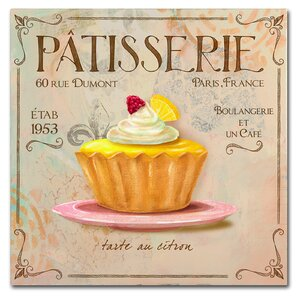 'Patisserie IV' Vintage Advertisement on Wrapped Canvas by Trademark Fine Art