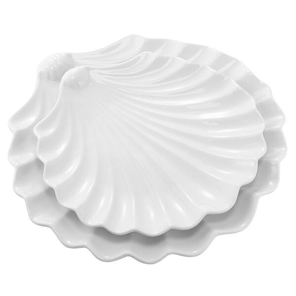 Larraine Nesting Shell 2 Piece Platter Set by Highland Dunes