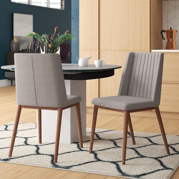 Mayton Mid-Century Upholstered Dining Chair (Set of 2) by Mercury Row