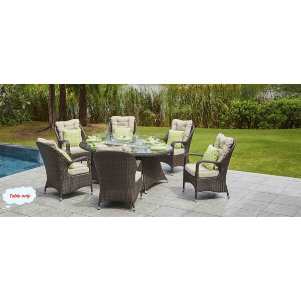 Leppert Resin Wicker Propane/Natural Gas Fire Pit Table by Rosecliff Heights