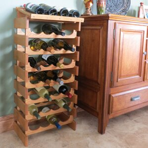 Dakota 16 Bottle Floor Wine Rack by Wooden Mallet