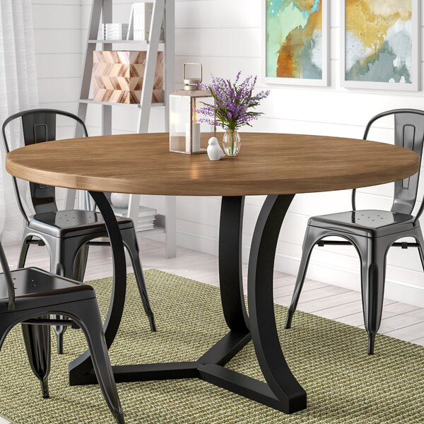 Louisa Solid Wood Dining Table by Gracie Oaks