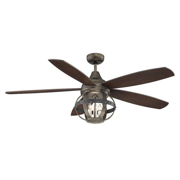 52 Wilburton 5 Blade Ceiling Fan with Remote by Laurel Foundry Modern Farmhouse