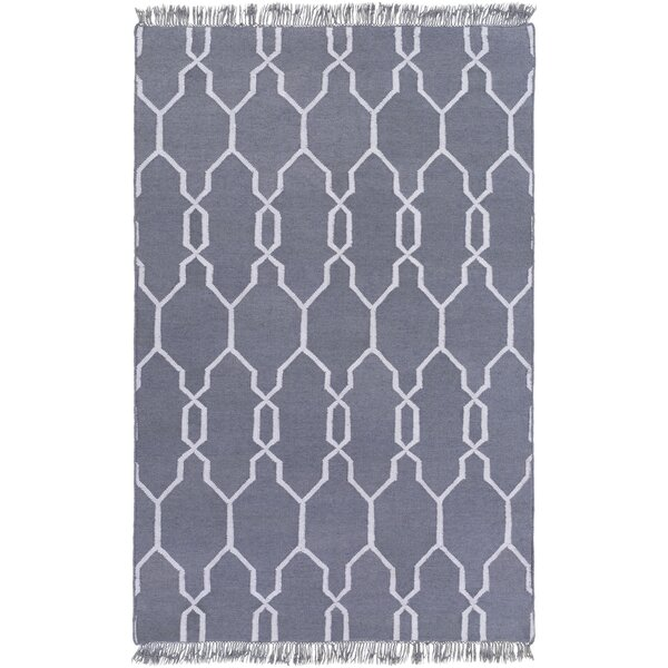Larksville Hand-Woven Gray Outdoor Area Rug by Charlton Home