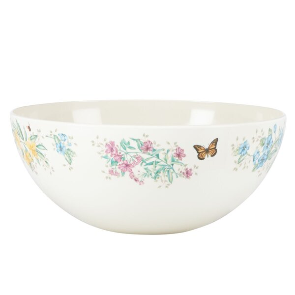 Butterfly Meadow Melamine Salad Bowl by Lenox