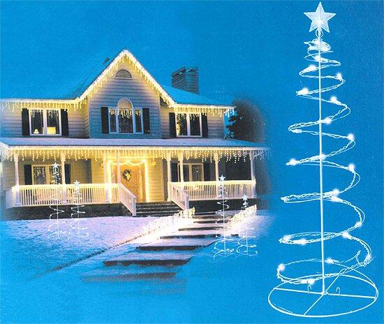 Spiral Light Christmas Tree Yard Decoration by Sienna Lighting
