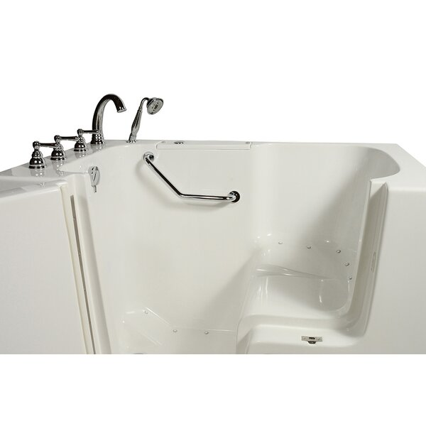 Wheelchair Access 51.5 x 40.25 Air Massage Whirlpool Bathtub by Ella Walk In Baths