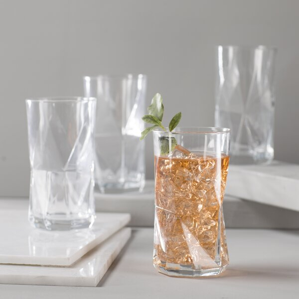Oakgrove 16.25 Oz. Cooler Glass (Set of 4) by Mint Pantry