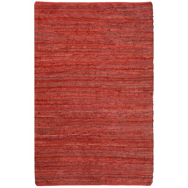 Sandford Chindi Hand Woven Cotton Red Area Rug by Latitude Run