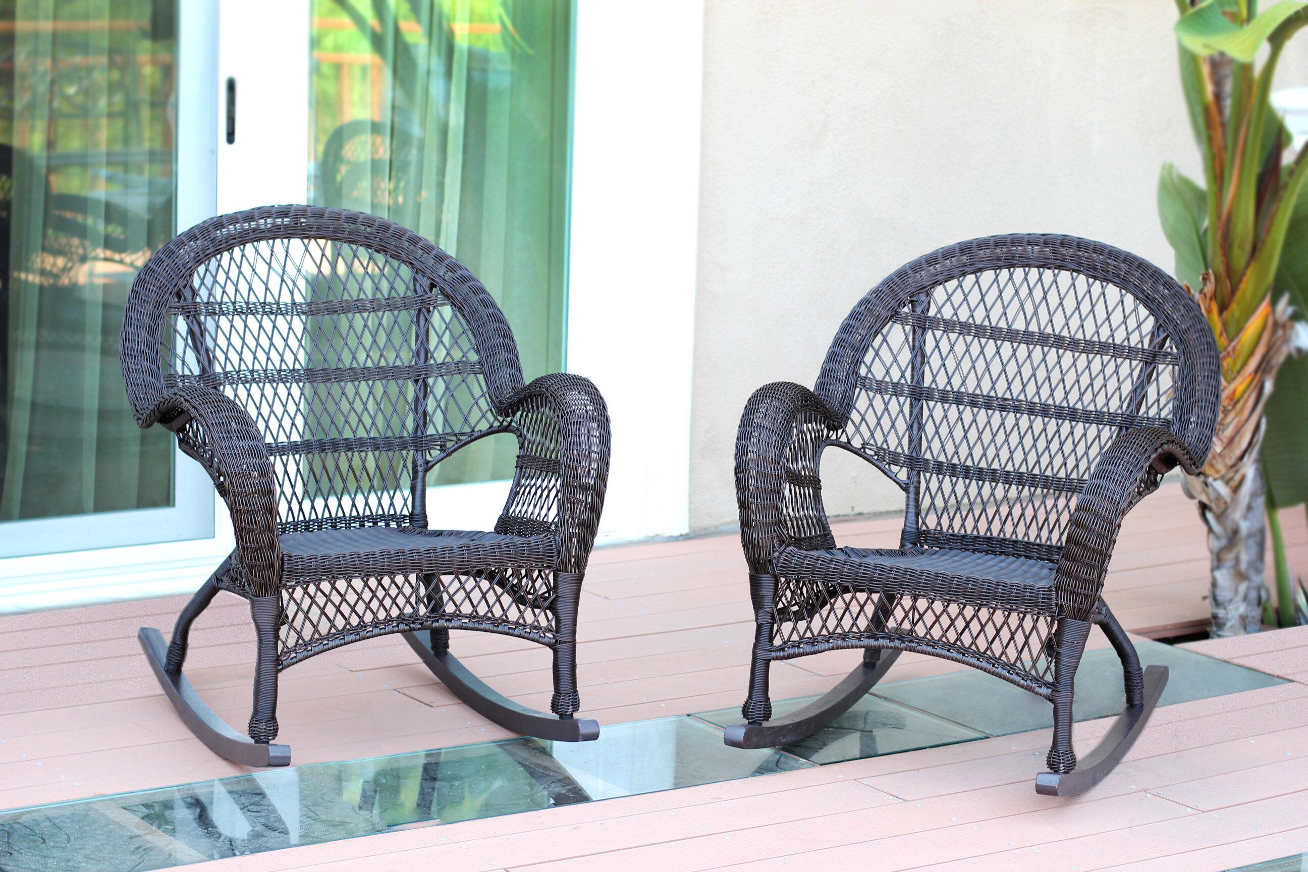 Jeco Inc. Wicker Rocker Chair U0026 Reviews | Wayfair