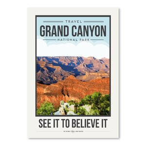 Travel Poster Grand Canyon Graphic Art by East Urban Home