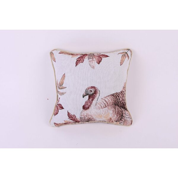 Thanksgiving Fall Harvest Tapestry Pillow Cover by Violet Linen