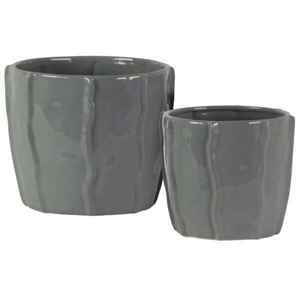 Stamper 2-Piece Ceramic Pot Planter Set by Highland Dunes