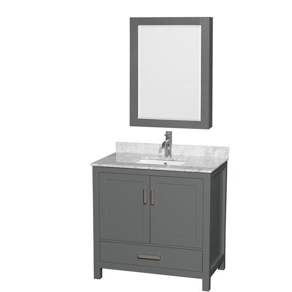 Sheffield 36 Single Bathroom Vanity Set with Medicine Cabinet by Wyndham Collection