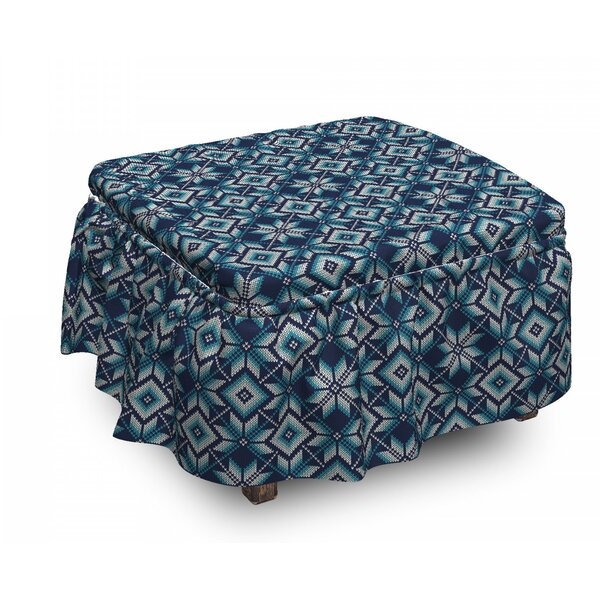Nordic Winter Ottoman Slipcover (Set Of 2) By East Urban Home