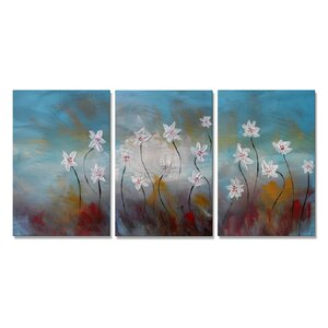 Remember Spring by Skye Tayler 3 Piece Painting Set by All My Walls