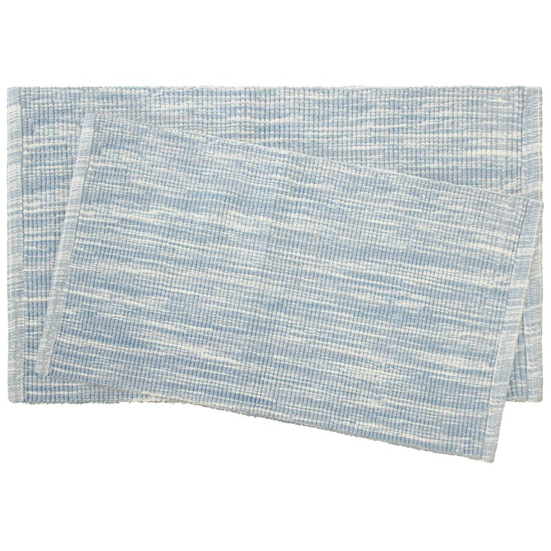 Boell 2 Piece Cotton Slub Bath Rug Set