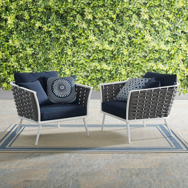 Rossville Patio Chair with Cushions (Set of 2) by Ivy Bronx Ivy Bronx