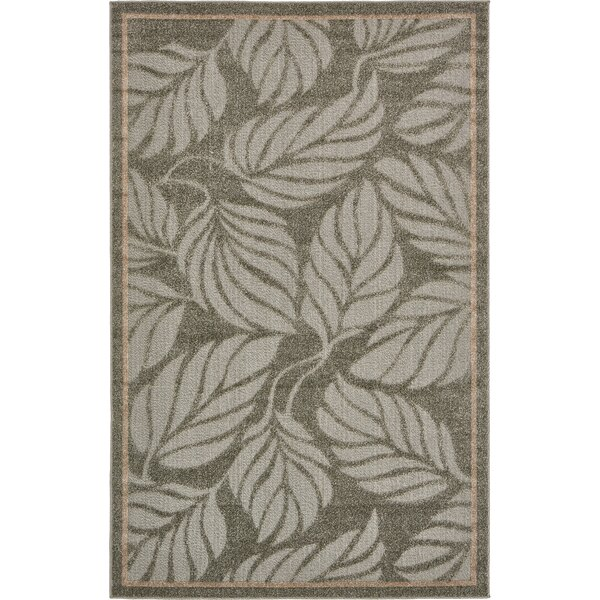 Barton Olive Indoor/Outdoor Area Rug by Bay Isle Home